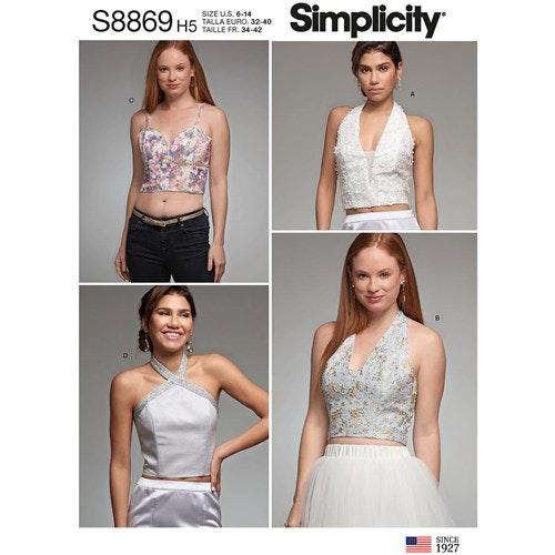 Simplicity 8869 R5 Dam Storlek 40-48 Topp