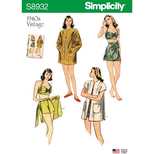 Kopia Simplicity 8932 D5 Dam Storlek 30-38 Flera plagg