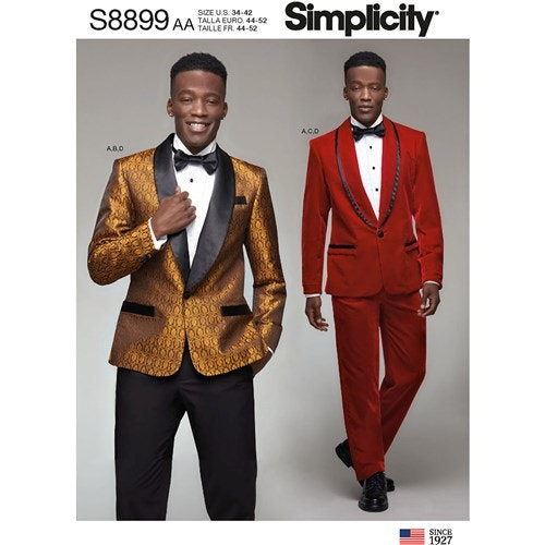 Simplicity 8899 BB Herr Storlek 54-62 Frack