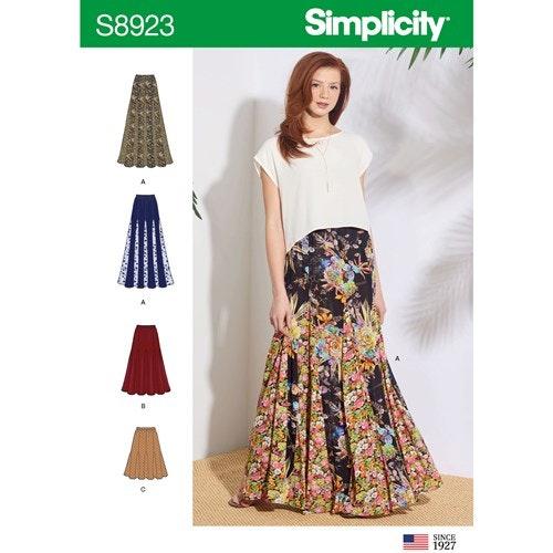 Simplicity 8923 R5 Dam storlek 40-48 Kjol