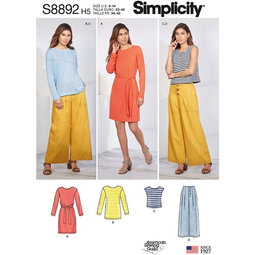 Simplicity 8892 R5 Dam Storlek 40-48 Flera plagg