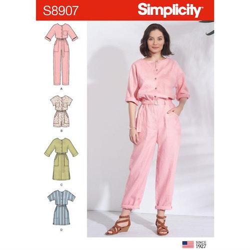 Simplicity 8907 R5 Dam Storlek 40-48 Flera plagg