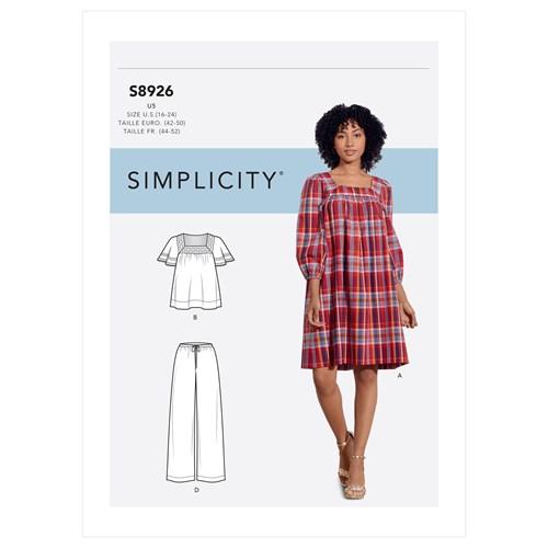 Simplicity 8926 U5 Dam Storlek 42-50 Flera plagg