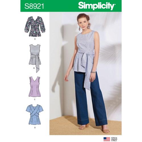 Simplicity 8921 R5 Dam Storlek 40-48 Överdel