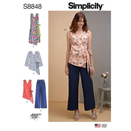 Simplicity 8848 U5 Dam Storlek 42-50 Flera plagg