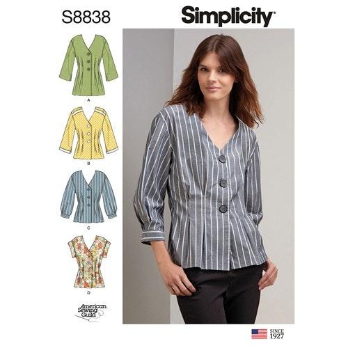 Simplicity 8838 R5 Dam Storlek 40-48 Överdel