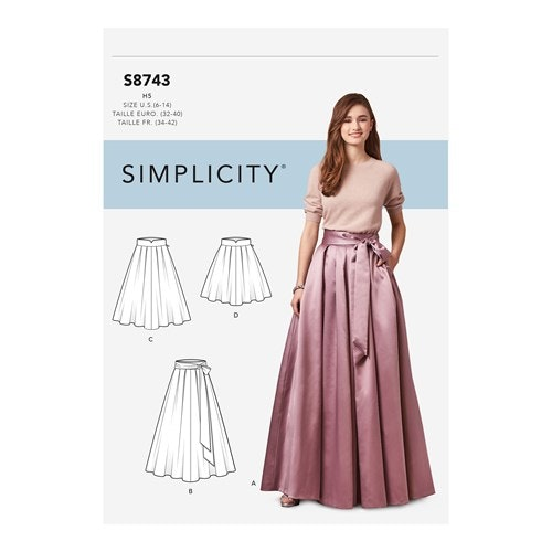 Simplicity 8743 R5 Dam Kjol Storlek 42-50