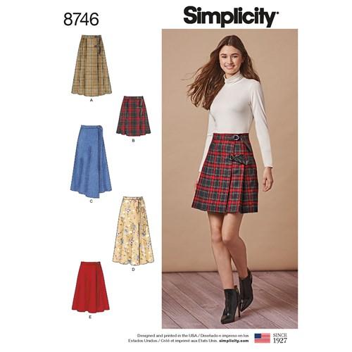 Simplicity 8746 H5 Dam Kjol Storlek 34-42