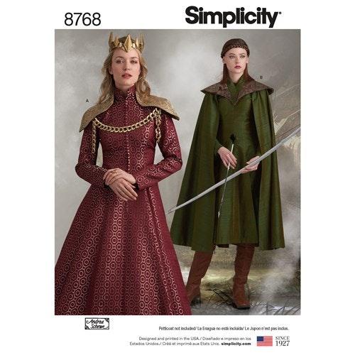 Simplicity 8768 R5 Medeltidskläder Storlek 42-50
