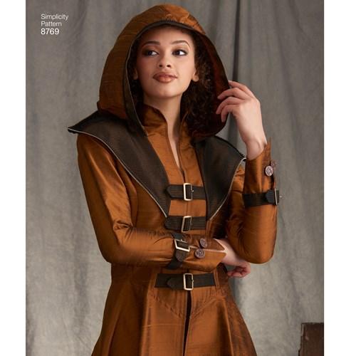 Simplicity 8769 H5 Medeltidskläder Storlek 32-40