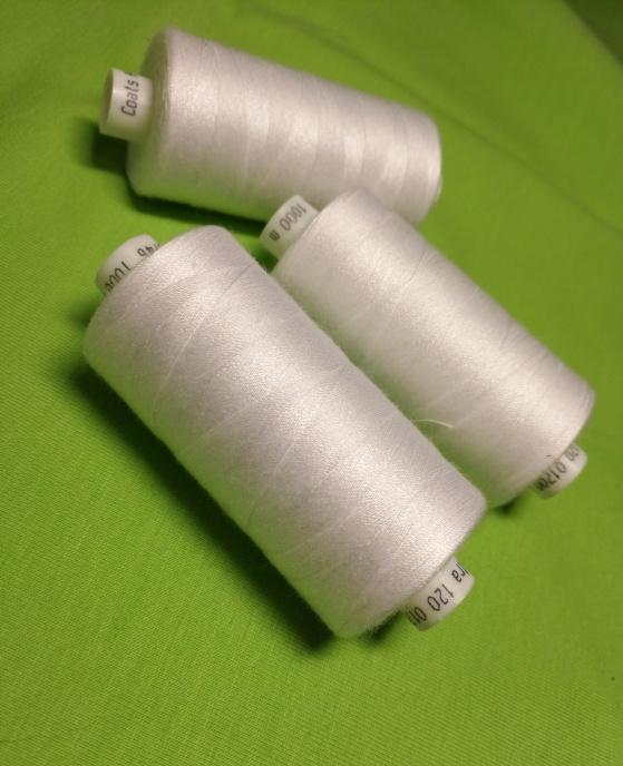 Coats tråd vit