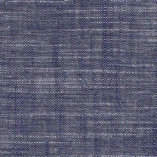 Bomullstrikå - Tryckt struktur Blå