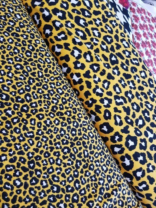 Bomullstrikå STENZO - Stor Gul leopard