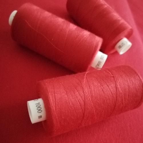Coats tråd Röd