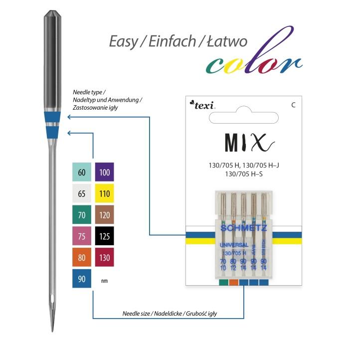 Nål TEXI - Blandade universal nålar MIX