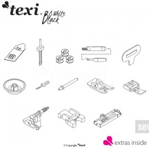 TEXI - Black and White (Bow) Inkl. sybord, leveranstid ca 10 dagar  FÖRKÖP !