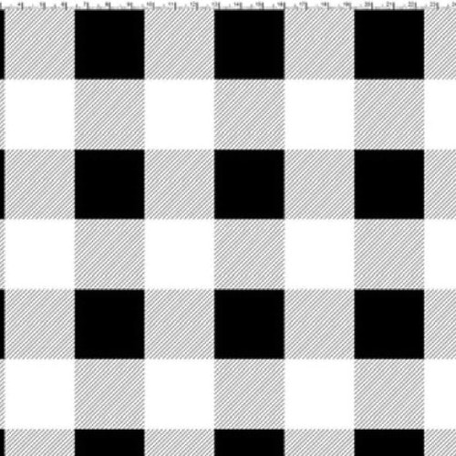 Bomullstrikå - Svart / Vit Stora rutor