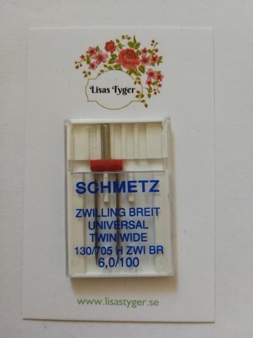 Nål Schmetz Tvillingnål 100 6 mm