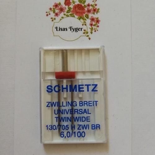 Nål Schmetz Tvillingnål 6 mm