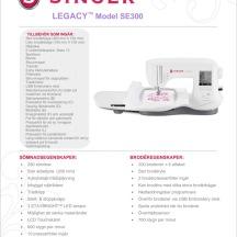 Singer Legacy SE300 ™ Sy- och broderimaskin
