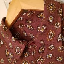 Crepe - Rostfärgad med Paisley