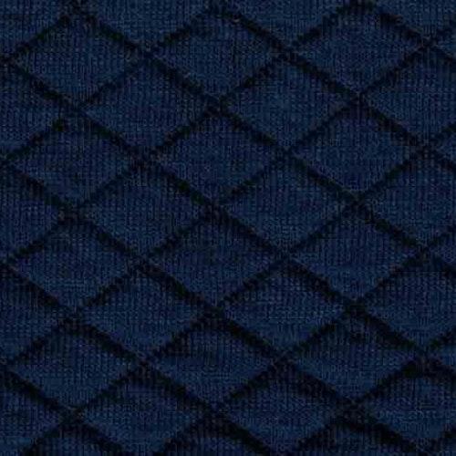 Kviltad trikå - Mörkblå