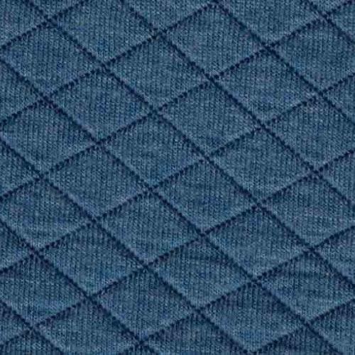 Kviltad trikå - Ljusare jeansblå