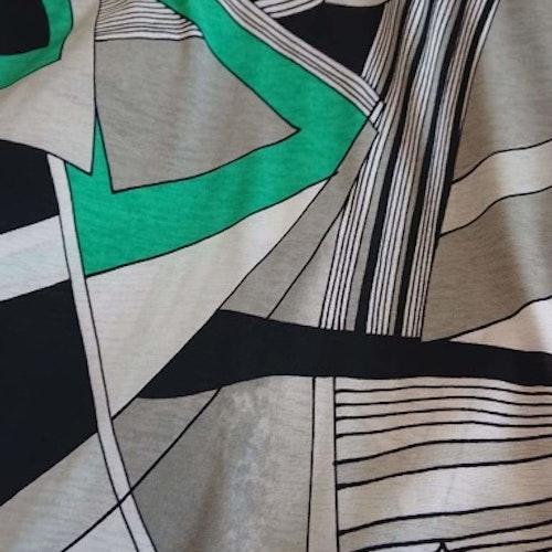 Polyester jersey - Grön mönstrad