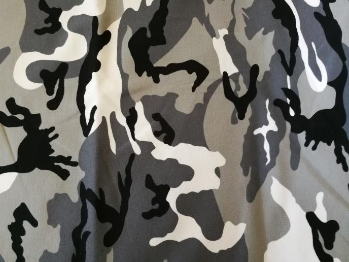 Grå / Vit Camouflage TRIKÅ