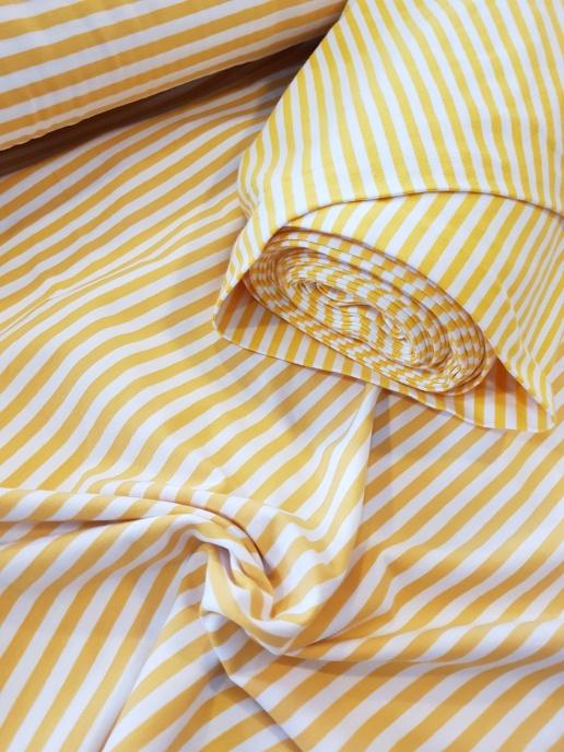 FILIPPA Muddväv - Randig Vit och gul