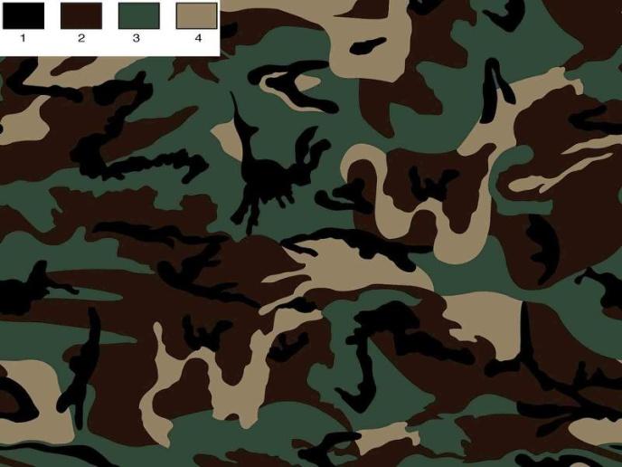 Brungrön Camouflage TRIKÅ
