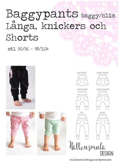 Hallonsmula Baggypants/slim - shorts, knickers och långbyxor stl 50/56 - 98/104
