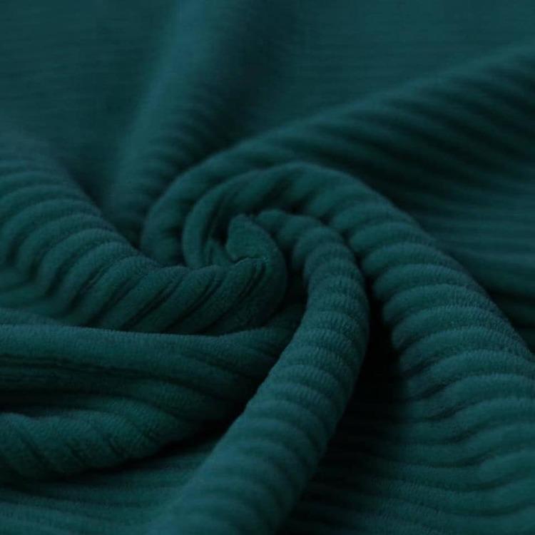 Bredspårig manchestervelour - Mörk petrolgrön