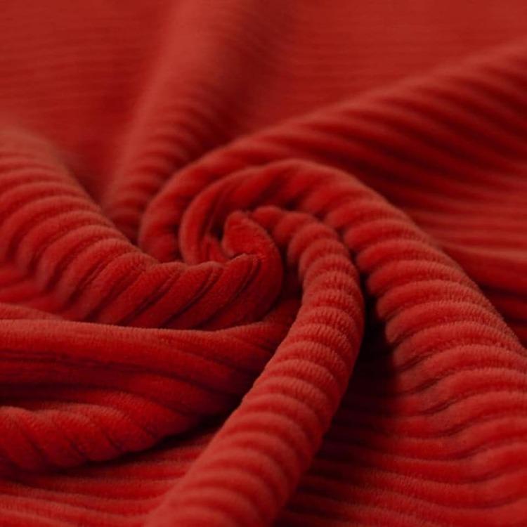 Bredspårig manchestervelour - Röd