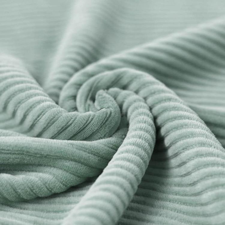 Bredspårig manchestervelour - Seagreen