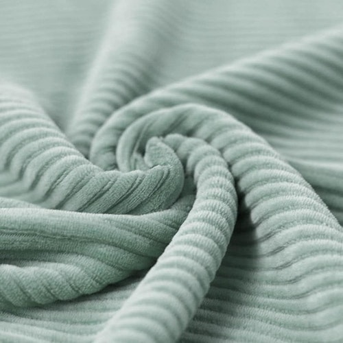 Bredspårig manchestervelour - Sea green