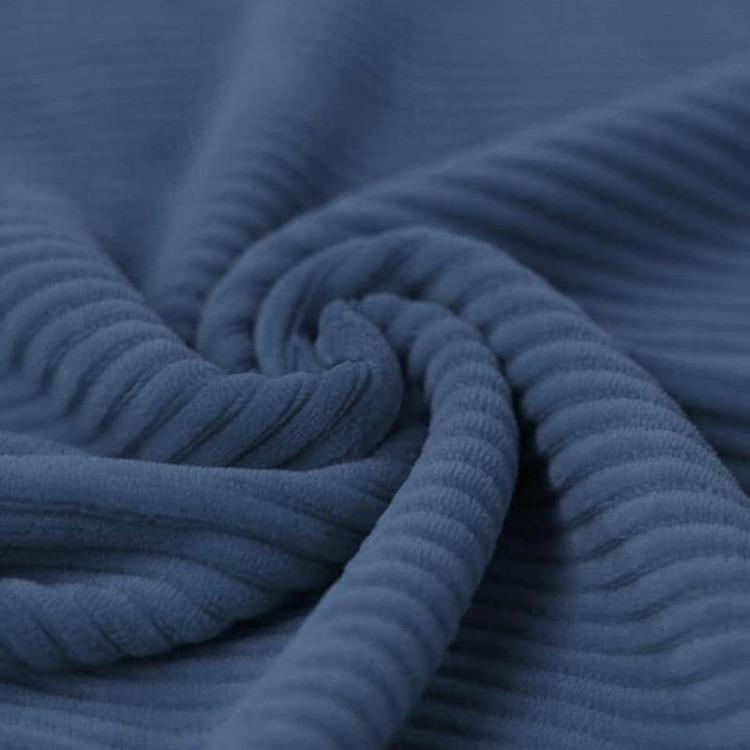 Bredspårig manchestervelour - Denimblå