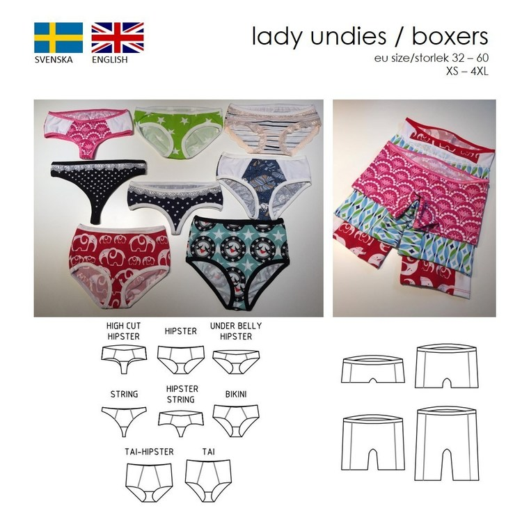 SewingHeart Design Lady Undies och Lady Boxer