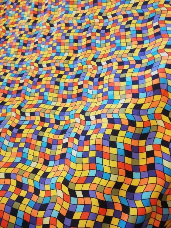 Bomullstrikå STENZO - Mosaik