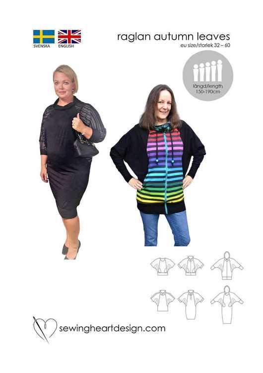 SewingHeart Design Raglan Autumn Leaves