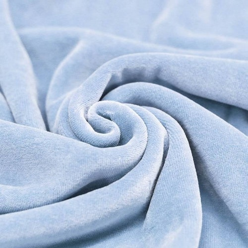 FILIPPA - Ljusblå Velour