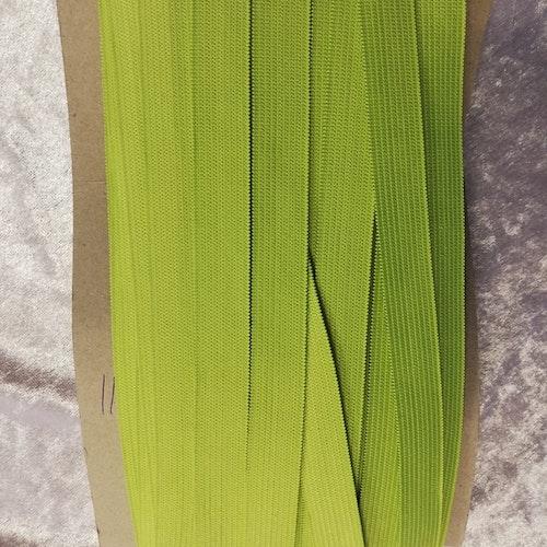 Färgad resår 15 mm bred, säljs per decimeter Nr 11 LIME