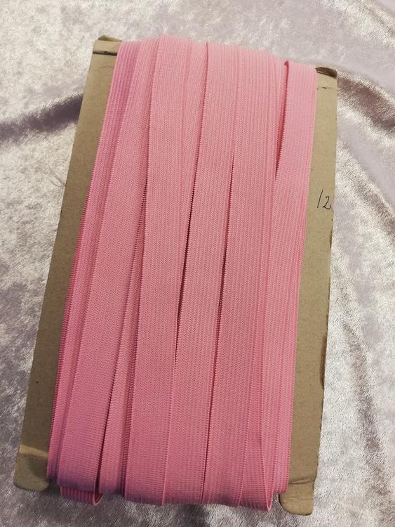 Färgad resår 15 mm bred, säljs per decimeter Nr 12 ROSA