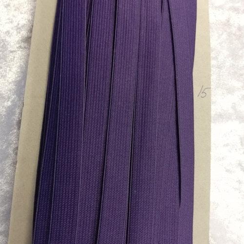 Färgad resår 15 mm bred, säljs per decimeter Nr 15 LILA