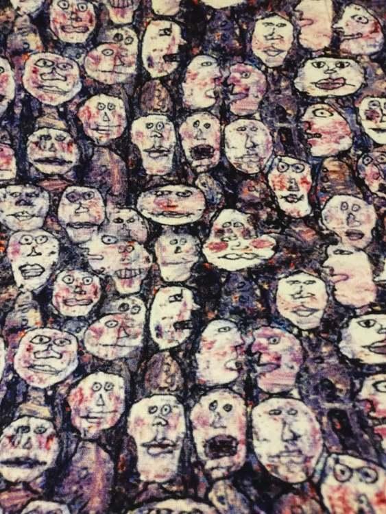 Tjockare Viskostrikå - Ansikten