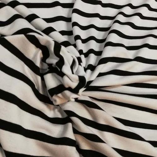 Viskos jersey svart och vit randig