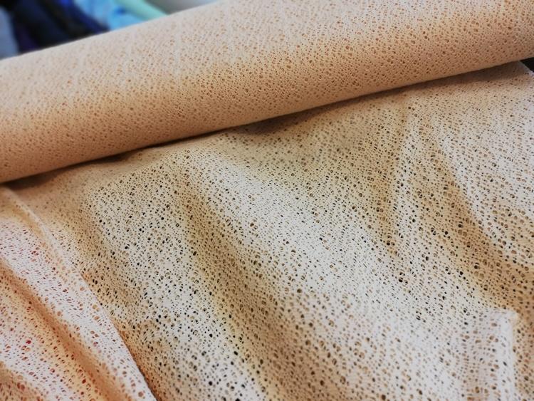 Aprikos polyesterspets