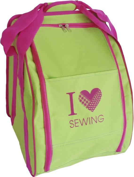 Overlockväska I Love Sewing LIME/CERISE