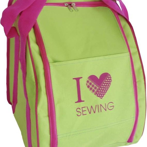 Overlockväska I Love Sewing LIME/CERISE