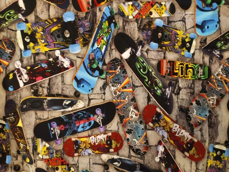 Bomullstrikå - Skateboard
